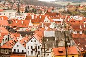 image of red roof  - the red roofs of the old town and streets - JPG