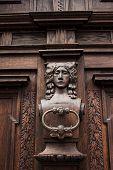 foto of door-handle  - door handle on the door of an old building - JPG