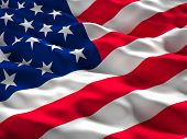 picture of glory  - 3d illustration of american old glory flag - JPG