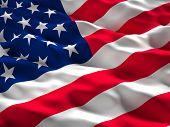 foto of glory  - 3d illustration of american old glory flag - JPG