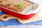 foto of poultry  - homemade poultry pate with mushroom  - JPG