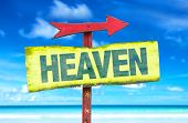 foto of gates heaven  - Heaven sign with beach background - JPG
