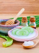 stock photo of ingredient  - Natural Spa Ingredients  - JPG