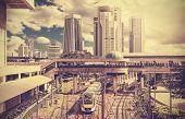 picture of kuala lumpur skyline  - Retro stylized photo of a modern city Kuala Lumpur Malaysia - JPG