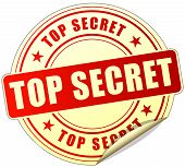 pic of top-secret  - illustration of top secret label design red icon - JPG