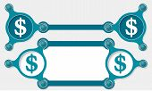picture of text-box  - Two vector abstract text boxes for your text and dollar symbol - JPG