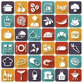 foto of cake-mixer  - Food and cooking flat icons - JPG