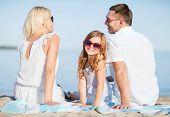 stock photo of children beach  - summer holidays - JPG