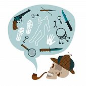 picture of crime solving  - Open book detective set - JPG