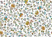pic of insect  - Colorful cute seamless pattern - JPG