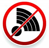 stock photo of antenna  - No Signal Sign - JPG
