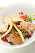 picture of caesar salad  - Caesar Salad with Chicken Fillet - JPG