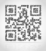 picture of qr-code  - abstract qr code vector illustration isolated on white background - JPG