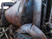 stock photo of locomotive  - View at the old locomotive from Havana Cuba - JPG