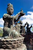 picture of metal sculpture  - Buddha statue Hong Kong - JPG