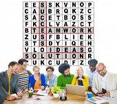 picture of scrabble  - Success Crossword Puzzle Words Achievement Game Concept - JPG