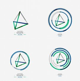 foto of triangular pyramids  - Pyramid shape line design - JPG