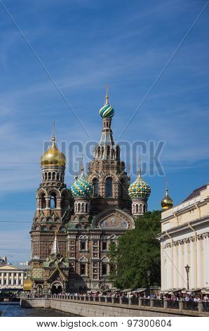 The Temple Of Christ's Rise In St. Petersburg