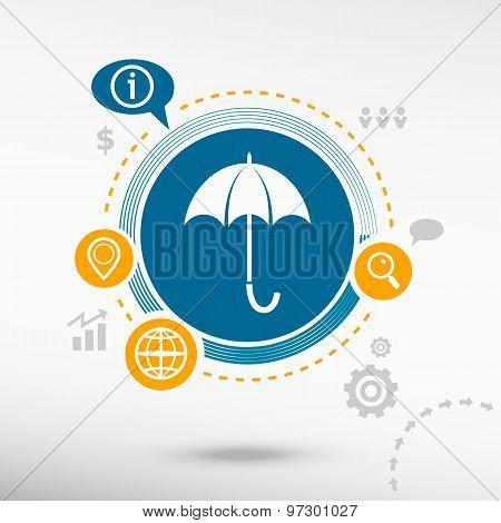 Umbrella And Creative Design Elements