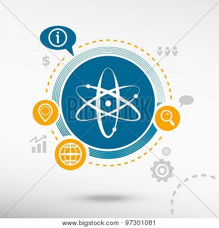 Atom Molecule And Creative Design Elements