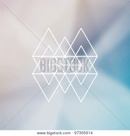 Modern Abstract Design Hipster Element