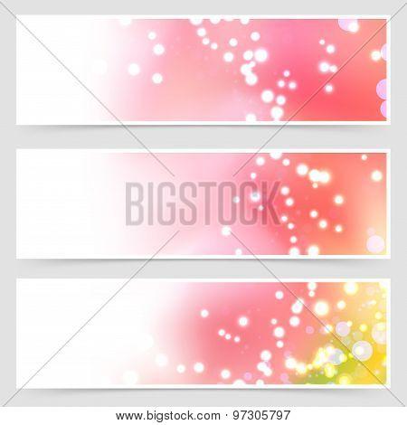 Bright Shimmering Seasonal Web Header Set