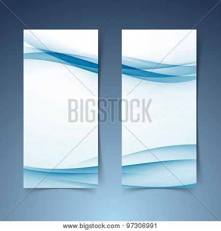 Blue Abstract Soft Smooth Hi-tech Line Banner