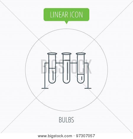 Laboratory bulbs icon. Chemistry sign.