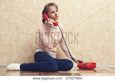 The Girl Calling By Phone