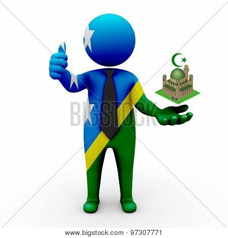 3d businessman people Solomon Islands - Muslim mosque and Islam in Solomon Islands