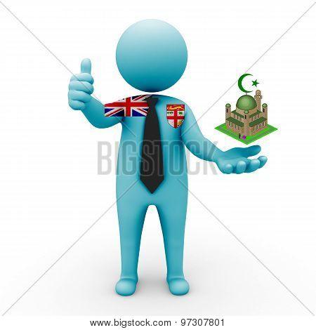 3d businessman people Fiji  - Muslim mosque and Islam in Fiji