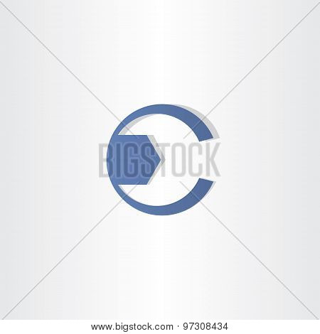Mechanic Key Letter C Symbol Vector Design