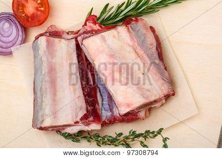 Raw Beef Ribs
