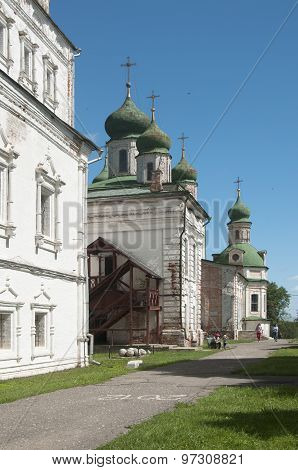 The Dormition Cathedral And The All Saints Church Of The Goritsky Monastery In Pereslavl-zalessky