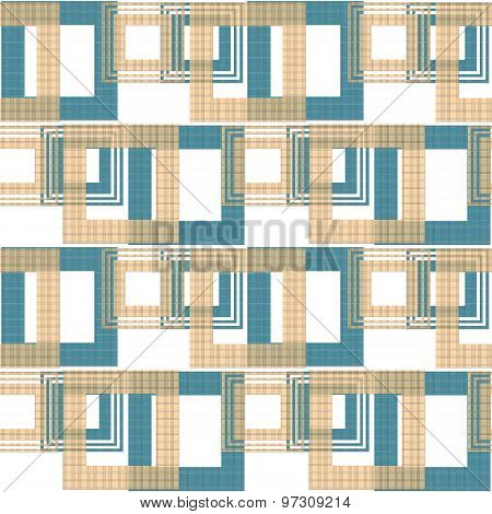 Seamless Abstract Pattern Retro Ornament Geometric Background