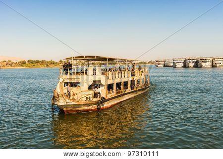 Boat On River Nile.