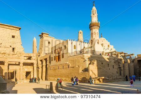 Mosque At Luxor Temple In Egypt