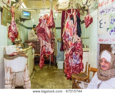 Butcher Shop In Aswan, Egypt