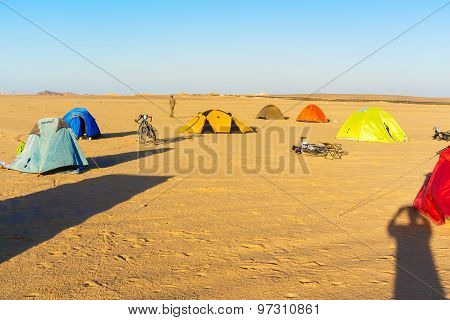 Camp In The Desert In Egypt
