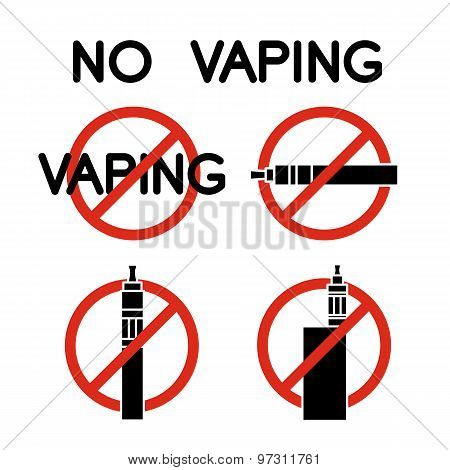 No Vape Icons. Vector