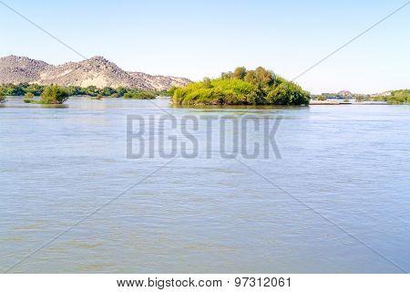 River Nile Near Wadi Halfa In Sudan.