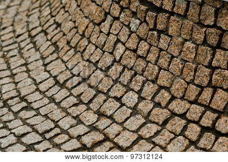Close Up Of Curved Stone Wall