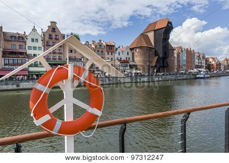View Of The Gdansk Riverside