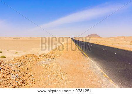 Eastern Desert Landscape In Sudan