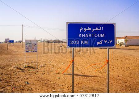 Road Sign In Sudan