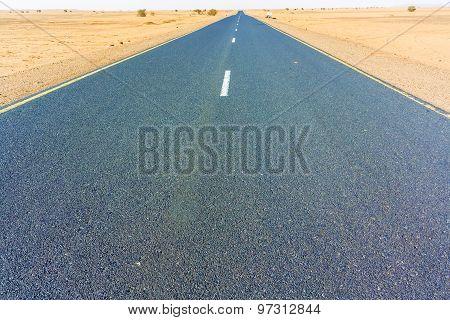 Road In The Sahara Desert.