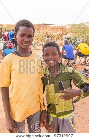 Portrait Of The Boys  In Sudan