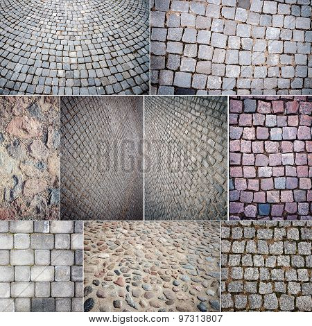 Collection Of Various Stone Paving Textures