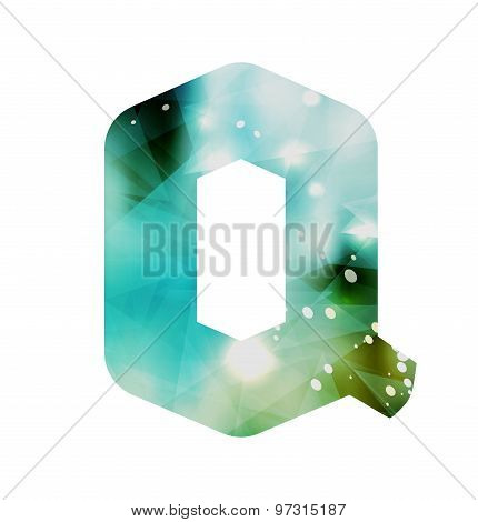 Abstract Geometric letter