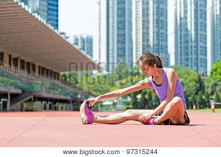 Woman doing stretches exercise